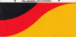 Aufkleber SPD Fahne 76 ohne