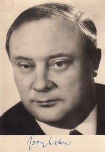 Autogrammkarte G Leber