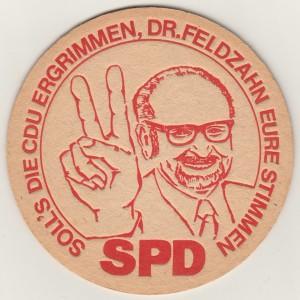 Bierdeckel - SPD  Feldzahn