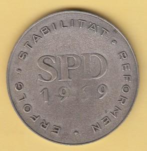 Brandt Münze 69 SPD RS