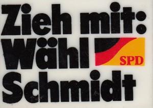 Button SPD Zieh mit 1976