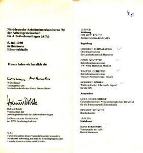 Einladung AFA 1980 2