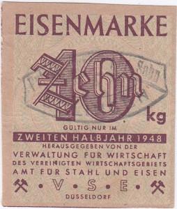 Eisen VSE 10 Stempel 1948 - 2
