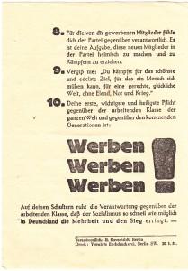 Flugblatt - SPD - Zweiter Mann -RS