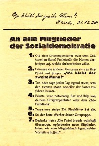 Flugblatt - SPD - Zweiter Mann -VS