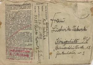 KZ Auschwitz Brief 1 001