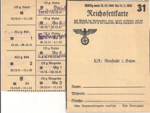 Reichsfettkarte 31 001