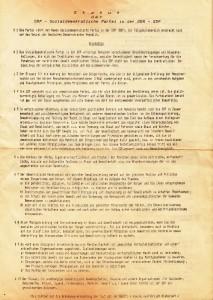 SDP - Statut 1989 VS