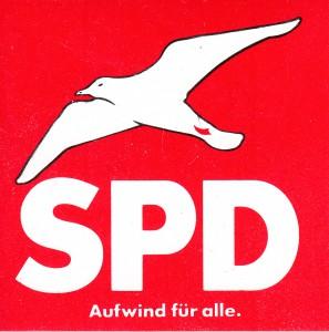 SPD Aufkleber Möwe