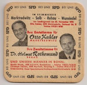 SPD - Bierdeckel - München Kommunalwahl - 1970 - RS 001