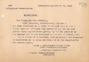 SPD - Grevenbroich - Entnazifizierung - 1946 001