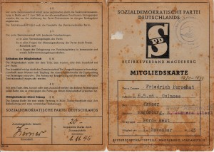 SPD Mitgliedskarte Magdeburg 1