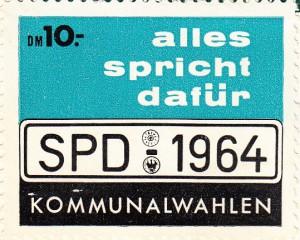 SPD SM dafür 1964 10000