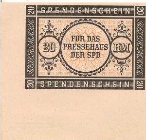 SPD - Spendenschein 20 RM 1948 001
