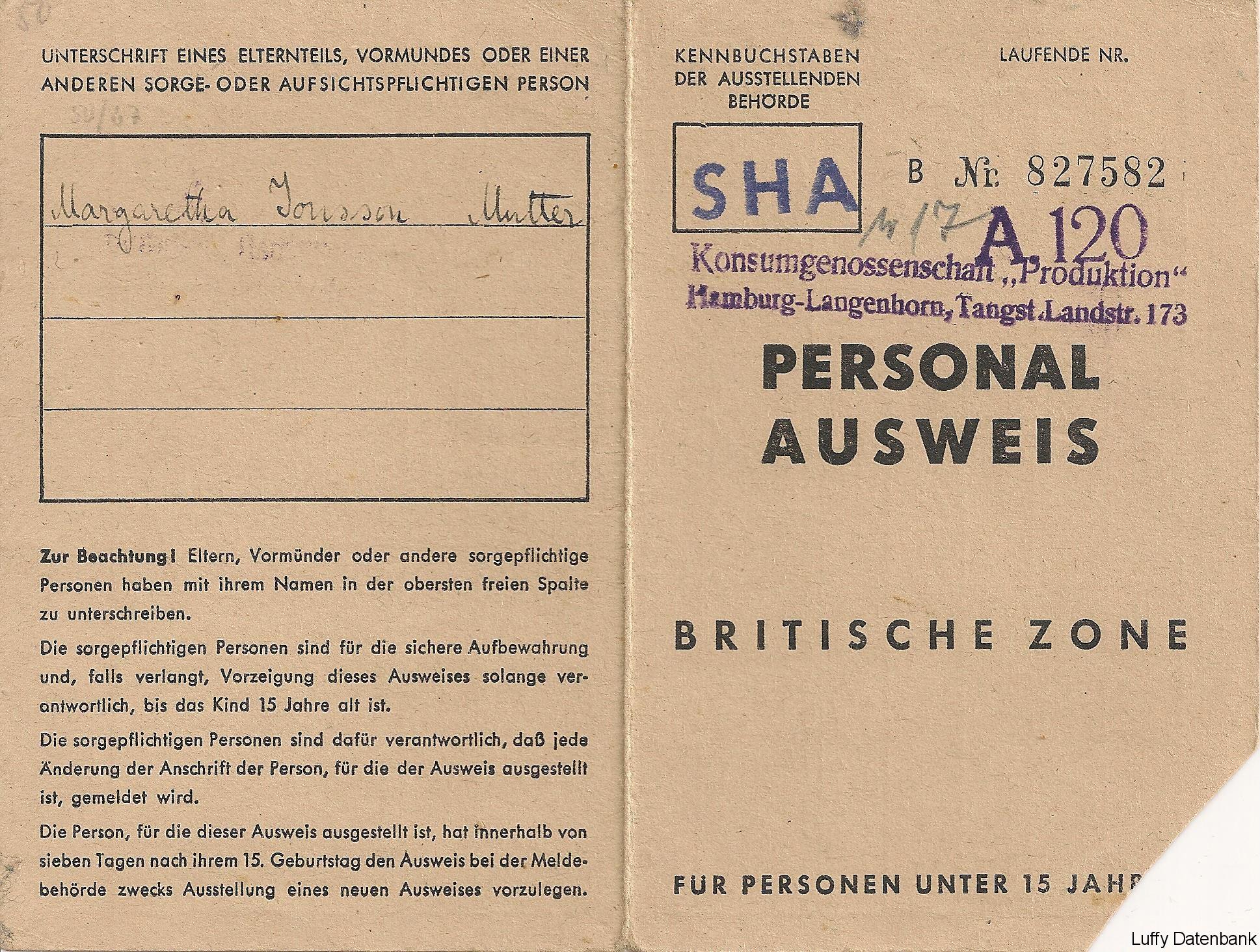 Britischer Personalausweis